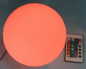 Globo LED multicolor RGB con mando