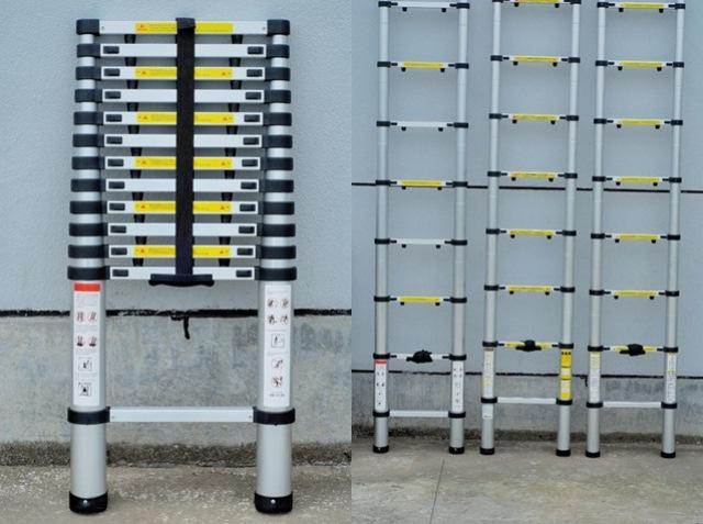 Escalera de aluminio telesc pica expertos en for Escalera telescopica aluminio