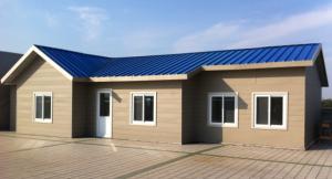 Casa prefabricada gama media con revestimiento