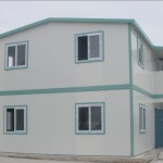 Casa prefabricada realizada con paneles de Fibra de cemento
