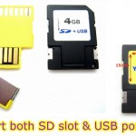 Tarjeta SD y mini USB dos en una