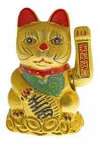 El gato chino atrae la abundancia