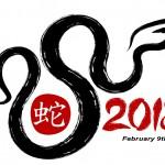 Feliz Año Nuevo Chino de la serpiente de Agua