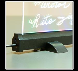 Pizarra LED para colocar sobre mostrador