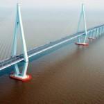 El puente que une Ningbo y Shanghai
