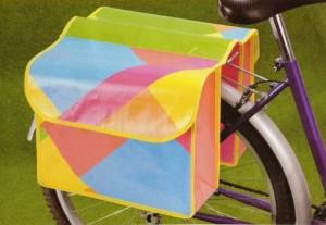 Alforjas de rafia tipo alforja para la parte trasera de la bicicleta