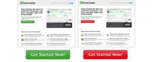 Experimento realizado entre el verde y el rojo en botones de páginas web