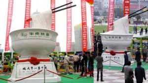 Monumento chino a los boles de fideos