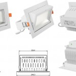 Importaciones de China LED: Down Light Rectangular Basculante 35W led Samsung equivalente a Philips 70W