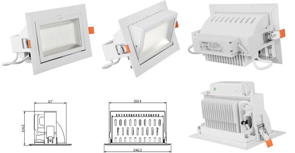 Luckyarn es especialista en importación desde China de iluminación LED, especialmente focos para tienda como este