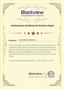 Luckyarn se convierte en distribuidor exclusivo Blackview online para España y Portugal