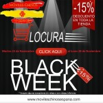 Nada de Black Friday, Hoy arranca la Black Week en movileschinosespana.com, toda una semana al 15% de descuento