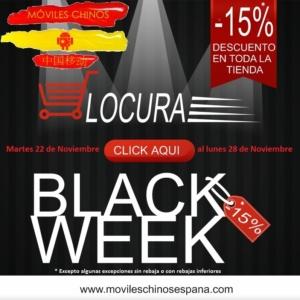 Nada de Black Friday, Hoy arranca la Black Week en movileschinosespana.com, toda una semana al 15% de descuento