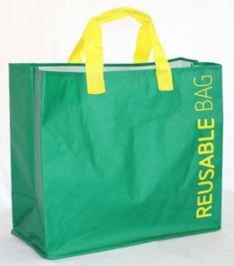 Importaciones de China de bolsas de rafia laminadas sin brillo con costura