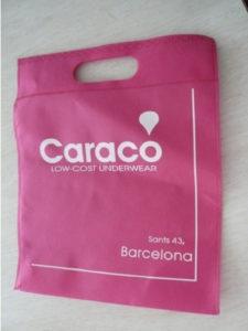 Importaciones de China de bolsas de tejido no tejido termosellable