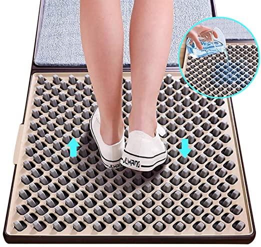 Alfombrilla para Liquido Desinfectante Hidroalcohólico. Desinfecta comodamente todo el calzado sin tocarlo y sin necesidad de agacharte!